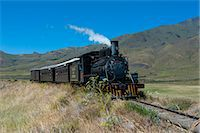 steam engine - La Trochita, the Old Patagonian Express between Esquel and El Maiten in Chubut Province, Patagonia, Argentina, South America Stock Photo - Premium Rights-Managednull, Code: 841-07206093
