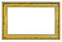 gilded frame with thick border isolated on white background Stock Photo - Royalty-Freenull, Code: 400-07210798