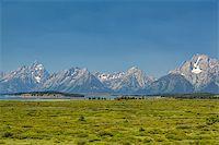 The amazing Teton mountains above Jackson Lake in Wyoming, USA. Stock Photo - Royalty-Freenull, Code: 400-07211142