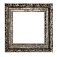 Ruined wooden frame with thick border isolated on white background Stock Photo - Royalty-Freenull, Code: 400-07211755