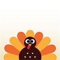 Happy Thanksgiving day card with copyspace. Vector Illustration Stock Photo - Royalty-Freenull, Code: 400-07218919