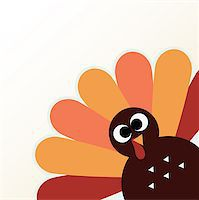 Happy Thanksgiving day with colorful funny Turkey. Vector Illustration Stock Photo - Royalty-Freenull, Code: 400-07221512