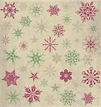 Vintage background with snowflakes Stock Photo - Royalty-Free, Artist: jelen80, Code: 400-07221607