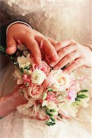 The groom keep the bride for hands Stock Photo - Royalty-Freenull, Code: 400-07224375