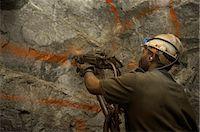 Goldmine drilling 3km underground, Gauteng, South Africa Stock Photo - Premium Royalty-Freenull, Code: 6110-07233643