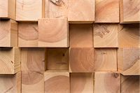 pattern (man made design) - A grid of wooden blocks arranged in varying lengths Stock Photo - Premium Royalty-Freenull, Code: 653-07233781