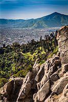Overview of Santiago from Cerro San Cristobal, Bellavista District, Santiago, Chile Stock Photo - Premium Rights-Managednull, Code: 700-07237693