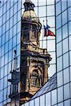 Reflection of Metropolitan Cathedral in Glass Building, Plaza de Armas, Santiago, Chile Stock Photo - Premium Rights-Managed, Artist: R. Ian Lloyd, Code: 700-07237720