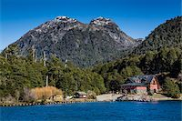 Shoreline and lodge, Puerto Blest, Nahuel Huapi National Park (Parque Nacional Nahuel Huapi), Argentina Stock Photo - Premium Rights-Managednull, Code: 700-07237910