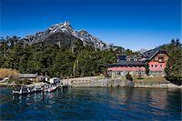 Jetty and lodge, Puerto Blest, Nahuel Huapi National Park (Parque Nacional Nahuel Huapi), Argentina Stock Photo - Premium Rights-Managednull, Code: 700-07237911