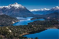 Scenic overview of Bariloche and the Andes Mountains, Nahuel Huapi National Park (Parque Nacional Nahuel Huapi), Argentina Stock Photo - Premium Rights-Managednull, Code: 700-07237946