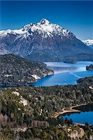 Scenic overview of Bariloche and the Andes Mountains, Nahuel Huapi National Park (Parque Nacional Nahuel Huapi), Argentina Stock Photo - Premium Rights-Managednull, Code: 700-07237949