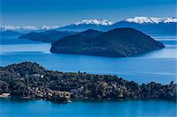 Scenic overview of Bariloche and the Andes Mountains, Nahuel Huapi National Park (Parque Nacional Nahuel Huapi), Argentina Stock Photo - Premium Rights-Managednull, Code: 700-07237951