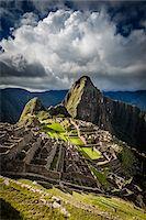 Scenic overview of Machu Picchu, Peru Stock Photo - Premium Rights-Managednull, Code: 700-07237979