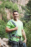 rock climber - Mature Man Rock Climbing, Schriesheim, Baden-Wurttemberg, Germany Stock Photo - Premium Rights-Managednull, Code: 700-07238115