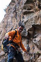 rock climber - Mature Man Rock Climbing, Schriesheim, Baden-Wurttemberg, Germany Stock Photo - Premium Rights-Managednull, Code: 700-07238125