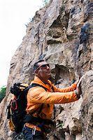 rock climber - Mature Man Rock Climbing, Schriesheim, Baden-Wurttemberg, Germany Stock Photo - Premium Rights-Managednull, Code: 700-07238126