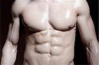 Muscular male torso Stock Photo - Premium Royalty-Freenull, Code: 649-07238777