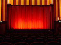 Empty retro cinema Stock Photo - Premium Royalty-Freenull, Code: 649-07238922