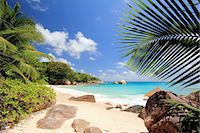 seychelles - Secluded beach, Praslin Island, Seychelles Stock Photo - Premium Royalty-Freenull, Code: 649-07239209