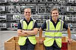 Portrait of warehouse workers in engineering warehouse Stock Photo - Premium Royalty-Freenull, Code: 649-07239389