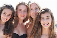 Portrait of mother with three daughters Stock Photo - Premium Royalty-Freenull, Code: 649-07239571