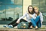 Two young women sitting together Stock Photo - Premium Royalty-Free, Artist: Cultura RM, Code: 649-07239887