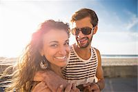 Young couple at San Diego beach Stock Photo - Premium Royalty-Freenull, Code: 614-07240077