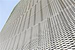 Close up of textured wall on modern building