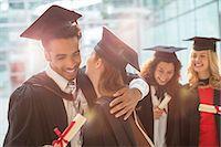 Graduates hugging Stock Photo - Premium Royalty-Freenull, Code: 6113-07243390