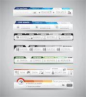 Quality clean web elements for blog and sites. Icons, header, carousel, infographics and a lot of icons. Stock Photo - Royalty-Freenull, Code: 400-07249215