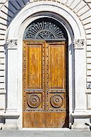 An image of an old door in Siena Italy Stock Photo - Royalty-Freenull, Code: 400-07257534
