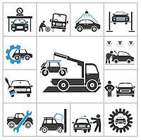 Auto repair icons. Vector set for you design Stock Photo - Royalty-Freenull, Code: 400-07261766