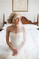 Portrait of Bride in Bedroom, Toronto, Ontario, Canada Stock Photo - Premium Rights-Managednull, Code: 700-07278722