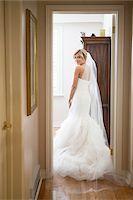 Portrait of Bride Indoors, Toronto, Ontario, Canada Stock Photo - Premium Rights-Managednull, Code: 700-07278726