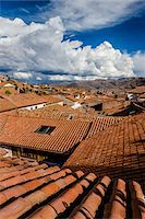 Overview of rooftops of homes with dramatic clouds, Cusco Peru Stock Photo - Premium Rights-Managed, Artist: R. Ian Lloyd, Code: 700-07279100