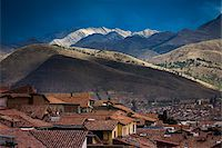 Scenic view of mountains and rooftops of homes, Cusco, Peru Stock Photo - Premium Rights-Managednull, Code: 700-07279104