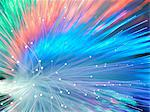 Bundle of fibre optics used to send data Stock Photo - Premium Royalty-Free, Artist: Cultura RM, Code: 649-07279551