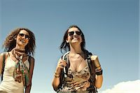 Two young women carrying backpacks, Cape Town, South Africa Stock Photo - Premium Royalty-Freenull, Code: 649-07280150