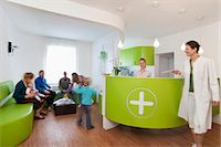 Medical waiting room and reception desk Stock Photo - Premium Roy