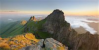 extreme terrain - Panoramic view of mountain peak at dawn in the Drakensberg, Free State Province, South Africa Stock Photo - Premium Royalty-Freenull, Code: 682-07281458