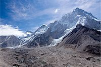 extremism - The snow capped high altitude peaks surrounding the Khumbu icefall and Mt. Everest base camp. Himalayas, Everest region, Nepal Stock Photo - Premium Royalty-Freenull, Code: 682-07281469