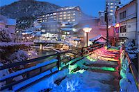 Night View Of Yumura Onsen, Hyogo Japan Stock Photo - Premium Rights-Managed, Artist: Aflo Relax, Code: 859-07283190
