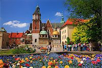 Wawerl Castle, Krakow, Poland, Stock Photo - Premium Rights-Managednull, Code: 859-07283558