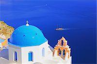 ships at sea - Santorini, Greece Stock Photo - Premium Rights-Managednull, Code: 859-07283692