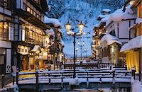 small town snow - Ginzan Onsen, Yamagata, Japan Stock Photo - Premium Rights-Managed, Artist: Aflo Relax, Code: 859-07283740