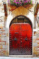 Wooden Ancient Italian Door in Historic Center Stock Photo - Royalty-Freenull, Code: 400-07296180