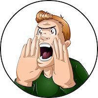 A vector illustration of an angry guy shouting. Stock Photo - Royalty-Freenull, Code: 400-07297190