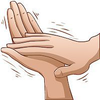 A vector illustration of clapping hands. Stock Photo - Royalty-Freenull, Code: 400-07297191
