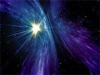 An image of a nice and colorful sunburst in space Stock Photo - Royalty-Freenull, Code: 400-07298934